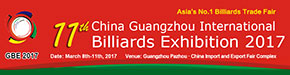 China (Guangzhou) Int'l Billiards Exhibition 2017