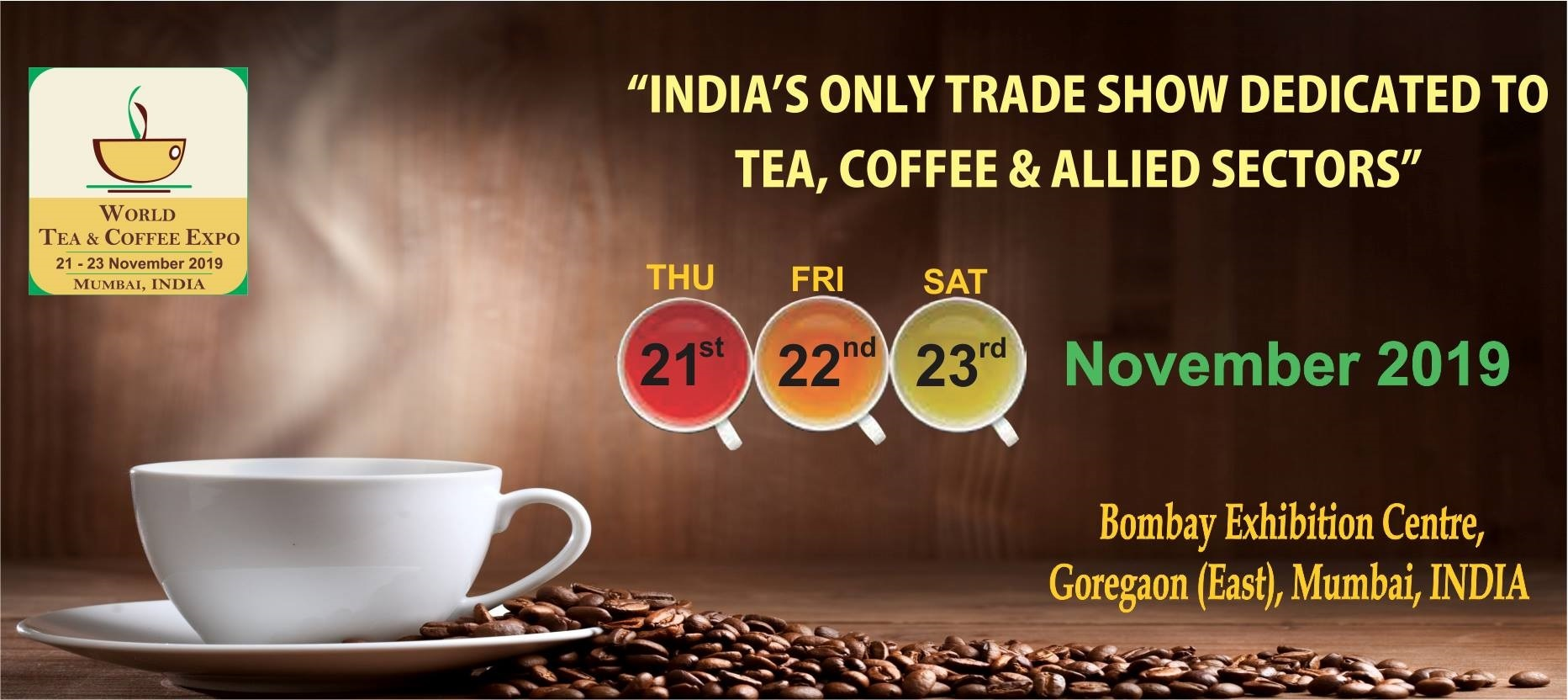 7TH WORLD TEA & COFFEE EXPO MUMBAI INDIA 2019